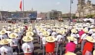 Escenifican en el Zócalo pasajes de Revolución mexicana (EN VIVO)
