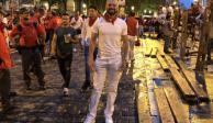 Revive Higuera, ahora se pasea en España en la fiesta de San Fermines