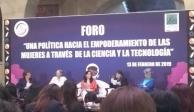 Diputados realizan foro sobre el empoderamiento de la mujer con la ciencia