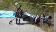 Hombre pierde un brazo al derrapar de su motocicleta