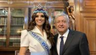 VIDEO: AMLO se reúne con Miss Mundo en Palacio Nacional