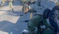 Vuelca camioneta con militares en carretera Puebla-Orizaba