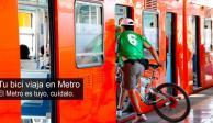 Desde hoy, bicicletas viajan en el Metro todos los días