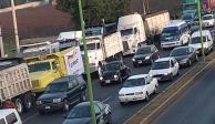 Transportistas bloquean carretera México-Pachuca en Tecámac