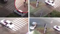 Grand Theft Auto de la vida real: lo golpean y le roban su auto VIDEO