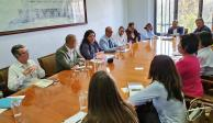 Alejandra Frausto evalúa los daños del Museo de la Estampa