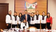 Reconoce Fayad a deportistas hidalguenses que participaron en los Panamericanos