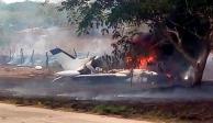 Cae avioneta en Tres Valles, Veracruz; no reportan muertos ni heridos