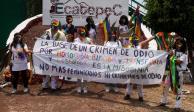 Marchan en Ecatepec integrantes de la comunidad LGBTTTI
