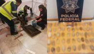 Encuentran 67 envoltorios con cocaína en drenaje del AICM