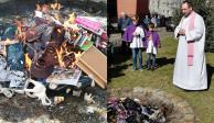 """Sacerdotes queman libros de """"Harry Potter"""" por """"malignos"""""""