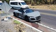 Choque millonario: dos autos de lujo impactaron en La Pera-Cuautla