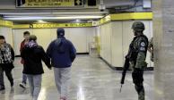Y Guardia Nacional hace presencia en el Metro