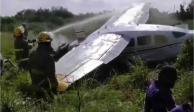 Desplome de avioneta en Apodaca, Nuevo León, deja un herido