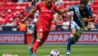 Toluca rescata el empate ante el Puebla a cinco minutos del final