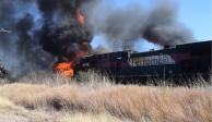 VIDEO: Choque entre pipa y tren deja 2 muertos en Aguascalientes