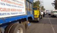 Inician bloqueos de transportistas en autopistas a la Ciudad de México