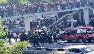 Accidente vial sobre Viaducto deja 2 personas muertas