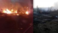 Dos muertos deja incendio en el Bordo de Xochiaca