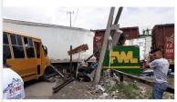 VIDEO: Tren se impacta en caja de tráiler en Ecatepec