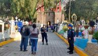 Por Día de Muertos, más de 22 mil policías vigilan panteones en CDMX