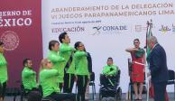 AMLO manda buenos deseos a atletas de Parapanamericanos