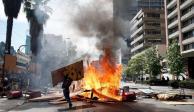 Chile registra protestas más violentas; dejan un muerto y 800 detenidos