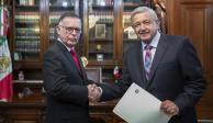 Recibe AMLO cartas credenciales de 6 nuevos embajadores en México
