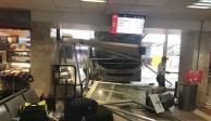 Autobús, ADO, Central Camionera, Veracruz, accidente, impacto, sala de espera, terminal, pasajeros, lesionados, chofer, unidad, chofer, daños