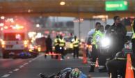 Motociclista derrapa y muere en el kilómetro 19 de la México-Puebla
