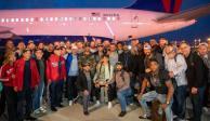 Los Nationals de Washington arriban a la capital estadounidense (fotos)