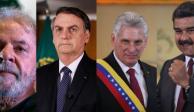 Lula, Bolsonaro, Díaz-Canel y Maduro reaccionan a renuncia de Evo
