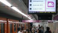 Metro instala plataforma que indica la llegada de trenes en tiempo real