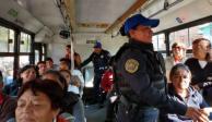 Evalúan permanencia de policías en transporte público para evitar robos