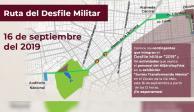 Esta es la ruta que seguirá el desfile militar del 16 de septiembre