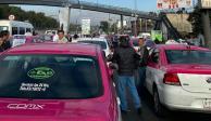 Taxistas acepta diálogo con la Semovi, pero continúan bloqueo