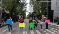 Padres de niños con cáncer bloquean Reforma e Insurgentes