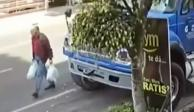 Adulto mayor muere aplastado por una revolvedora de cemento (VIDEO)
