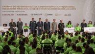 AMLO entrega estímulos a atletas por histórica actuación en Parapanamericanos