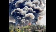 explosión, Chimalhuacán, Estado de México,  tianguis, pirotecnia, loma Chocolatín, Chicoloapan, intensa, cortina de humo, servicios de emergencia, bomberos, víctimas, video