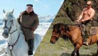FOTOS: Kim Jong-un realiza sesión épica, monta caballo al estilo Putin