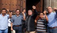 Integrantes de la CNTE llegan puntuales a segundo diálogo con AMLO