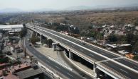 Autoridades de Cuernavacan realizaron un recorrido por el Paso Exprés y los daños en el distribuidor vial Palmiras.