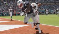 Antonio Brown debuta con touchdown en paliza de Patriotas sobre Miami