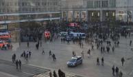 Dos youtubers rivales desencadenan batalla campal en plaza de Berlín