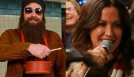 Alanis Morissette y Jimmy Fallon sorprenden al cantar en el metro de Nueva York