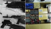 FGR asegura arsenal y 5 vehículos en Nogales, Sonora