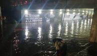 Lluvias provocan caos vial, inundaciones y encharcamientos en Tlalpan
