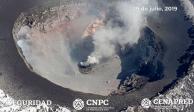 Detectan nuevo domo en el cráter del volcán Popocatépetl