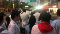 Médicos residentes protestan frente a Palacio Nacional